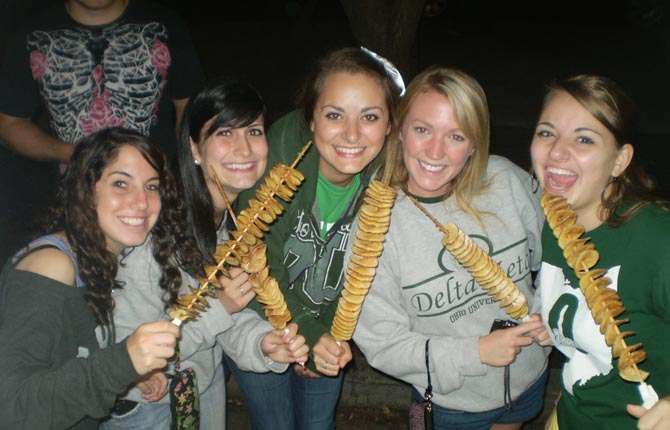 Sororities Love Tornado Potatoes